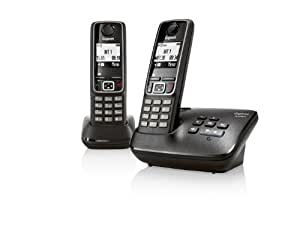Gigaset A420A Twin DECT Cordless Phone with Answer Machine - Black