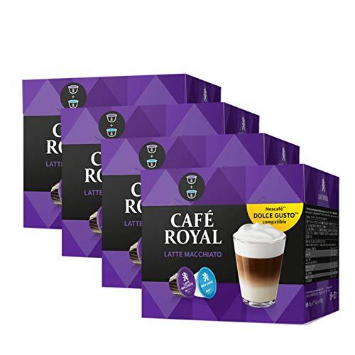 Café Royal Latte Macchiato, 64 kompatible Kapseln für Nescafé Dolce Gusto, 4er Pack (4 x 16 Kapseln)