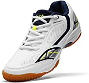 JAZBA Sports Shoes for Indoor Games, Light Weight, Anti-Skid | For Badminton, Sqash, Volleyball | Series - Gec