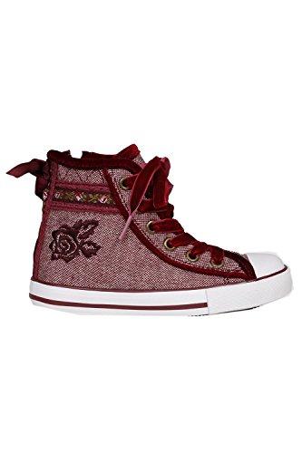 Krüger – Kinder Trachten Schuh, Sneaker Red Loop (4192-90)