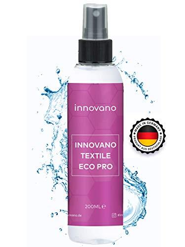 innovano Textile - Universal Textil Spray Imprägnierung Versiegelung 200 ml für Sneaker, Jacken, Leder, Caps, Textilien UVM. atmungsaktiv und hoch-ergiebig schützt vor Dreck & Feuchtigkeit