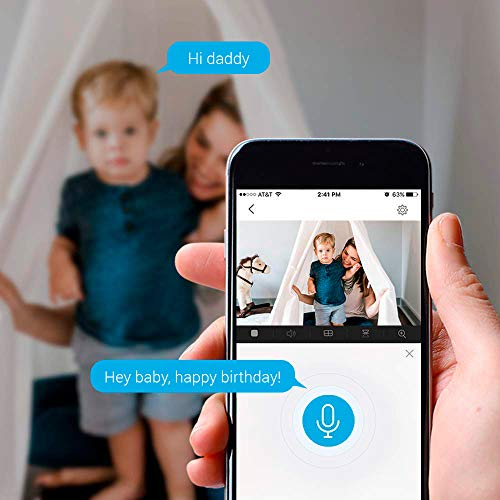 EZVIZ C6CN 1080p FHD Überwachungskameras, WLAN/LAN Dome Schwenk/Neige Kamera mit Nachtsicht, Zwei-Wege-Audio, Baby-Monitor, Smart Tracking, Smart Privacy Mask, Cloud-Service, Kompatibel mit Alexa