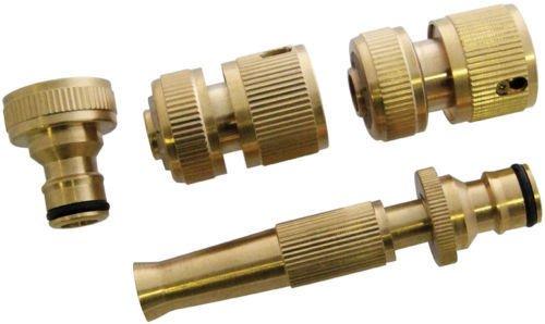 Generic Ycuk150730-50 < 1 & 4070 * 1 > ULL Lot Adaptateur FI Adaptateur de Robinet Laiton Adaptateur de Tuyau Raccord de Tuyau à Ajustement Rapide connecteur 3/10,2 cm Tuyau Laiton Ensemble Complet