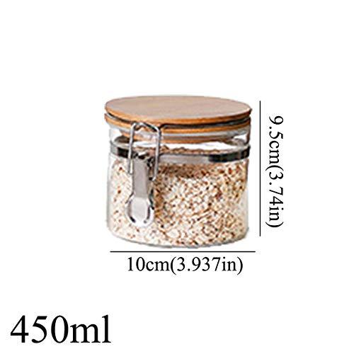 niuniuniu Vorratsflasche Glasbehälter Mit Deckel Spice Candy Food Diverses Tee Kaffee Zucker Sealed Kitchen Can 450mlB151 Butterfly Ginger Jar