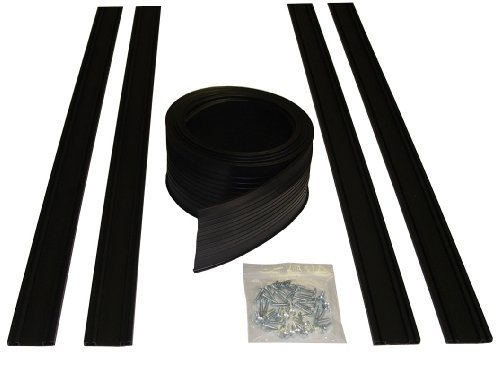 Auto Care Products 54016 16-Feet Garage Door Bottom Seal Kit with Track and Mounting Hardware by Auto Care Products (Garage Kit Seal Bottom Door)