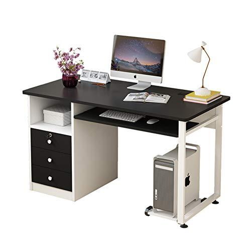 YQ WHJB Computertisch Mit Tastaturunterlage Und Schubladen,Home Office Computer Schreibtisch Mit Ablagen,pc-Laptop Schreiben Studie Workstation-c 100x50x75cm(39x20x30inch)