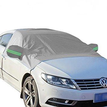 Kobwa Telo di copertura invernale per parabrezza auto, protezione da ghiaccio e gelo, con barra riflettent