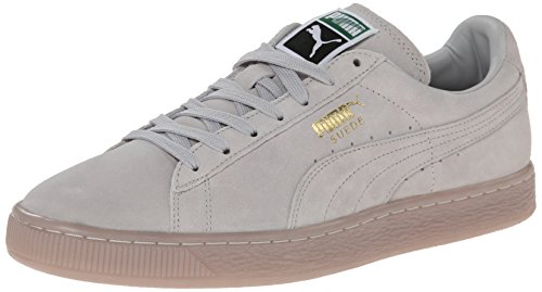 Puma Suede Classic Iced Lace-up Fashion Sneaker Gray Violet/Gold Foil