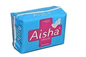 Aisha Ultra thin XL Sanitary napkins Combo Pack of 6 packets (42 pads)