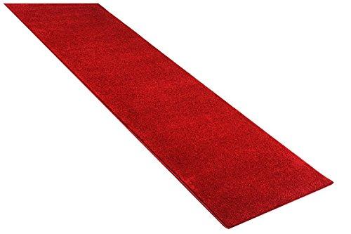 Konzepte Roten Teppich (havatex: Teppich Velour Läufer Burbon Rot / Prüfsiegel: TÜV-geprüft / 100 % Polypropylen / In verschiedenen Größen erhältlich , Größe Auswählen:80 x 250 cm)