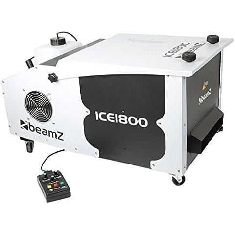 BeamZ ICE1800 - Máquina de humo (750 x 405 x 395 mm, Negro, Color blanco)