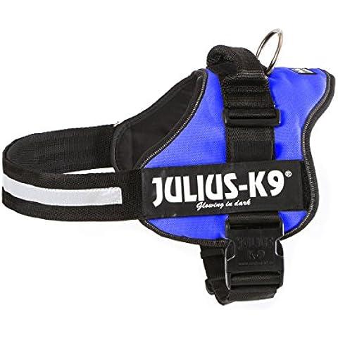 Trixie Julius-K9 Powerharness, Taglia 2, L - XL, Petto di 71 - 96 cm, blu - Collare K9 Pelle