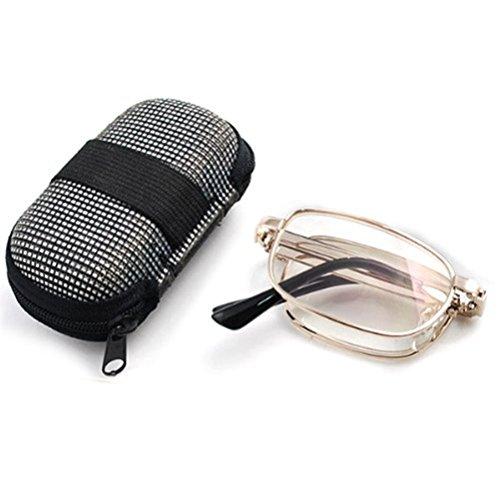 Klappbare ultnice presbiciadas + 2.0Brillen Ermüdungsmatte mit Etui aus Nylon mit Reißverschluss auf der Tasche