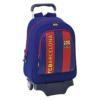 Safta Mochila F.C. Barcelona 1ª Equip. 16/17 Oficial Escolar Con Carro Safta 330x150x430mm