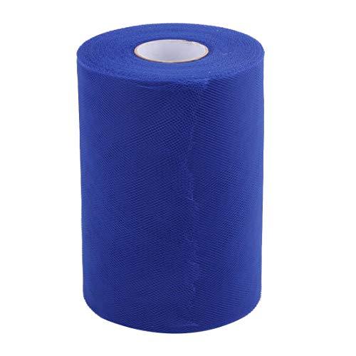 ZCHXD Polyester Home Dress Tutu Gift Decor DIY Craft Tulle Spool Roll 6 Inch x 100 Yards Royal Blue -