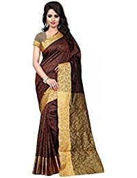 Rajeshwar Fashion Women's Silk Saree (Coffee Silk Brown_Brown)