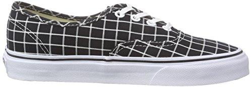 Vans Unisex-Erwachsene Authentic Sneaker Schwarz (grid/black)
