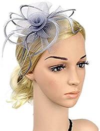 Zhongsufei Copricapo della ghirlanda del fiore della sposa Cappello da donna  per capelli Fascinator da sposa ce16a1aaea6f