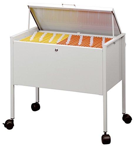 Durable-309810-Desserte-Mobile-pour-80-Dossiers-Suspendus-Format-A4-avec-Couvercle-de-Confidentialit-Dimensions-L-x-H-x-P-655-x-592-x-405-cm-Finition-Mtal-Gris