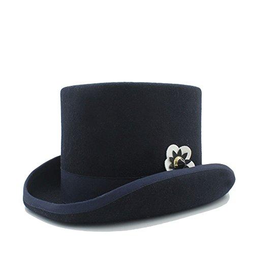 Kostüm Extra Tall - Sunny&Baby Fedora Top Hut für Frauen/Männer Steampunk Filz Bowler Hut Hochzeit Caps Mode (Color : 4, Size : 57CM)