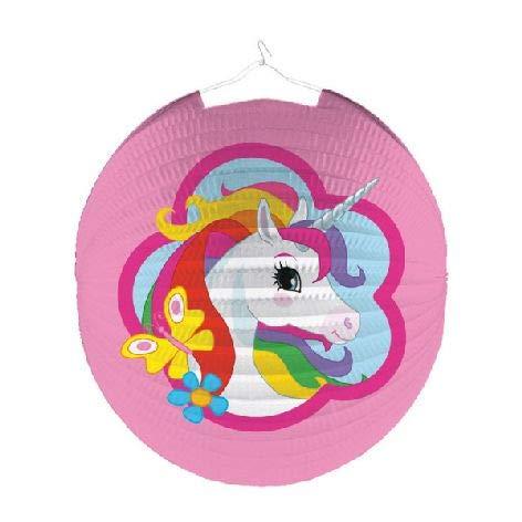 Amscan Runde Laterne Einhorn für Kindergeburtstag Party Deko Einhornlaterne Unicorn