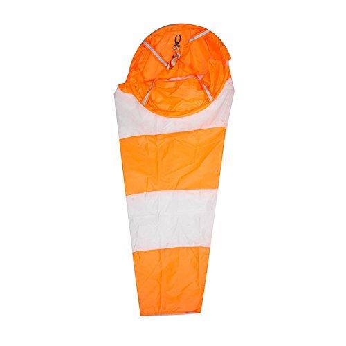 Windsack Nylon Wasserdichter wetterfest 80cm-150cm Der ist ein Idealer Windrichtungsanzeiger für Gärten Weiß und Rot