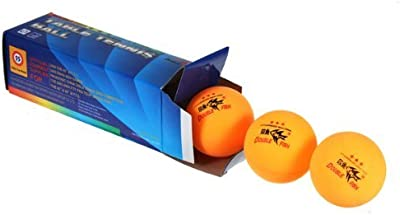 Well-Goal New 3PCS Double Fish ITTF Approved 3-Stars Table Tennis Ping Pong Ball 40mm for Match by Well-Goal