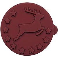 Birkmann 1010731210 Stempel-Set, Engel und Hirsch, 2-teilig, Kunststoff, Grau, 5 x 3 x 2 cm