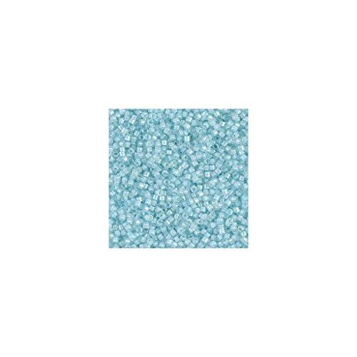 Miyuki Delicas 11/0 DB0078 - Aqua Mist Lined Crystal Luster (Aqua Lined Crystal)