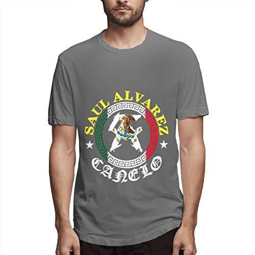 Saul Alvarez Canelo 1 Shirts T Männer Sport Cool T Shirt T-Shirts Für Herrenmode Casual Deep Heather -