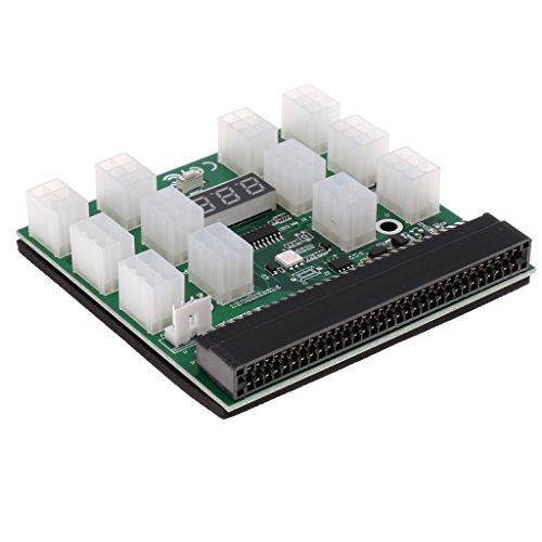 Homyl 1200W/750W Breakout Board Netzteil für HP Server GPU/ASIC Bergbau 12 * 6Pin PCIe Slot (750-watt-netzteil Netzkabel)