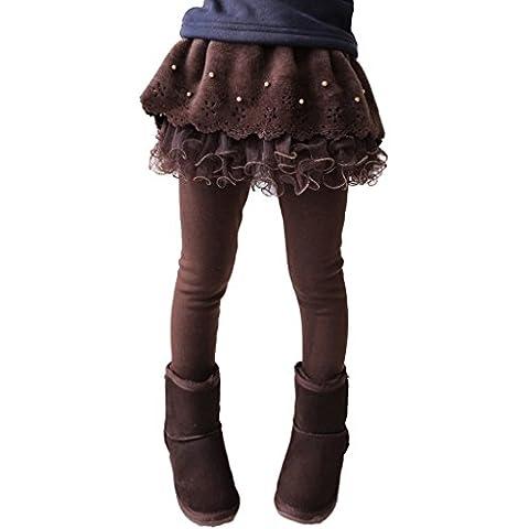 Highdas Kinder Strumpfhose für Mädchen Leggins Herbst/Winter Thermo Leggings Hosenrock Ballettröckchen-Rock