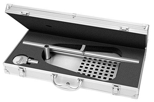Clauss CL-60001 00 Bierfasshalter mit Aufbewahrungskoffer für Standard 5 L Fässer, Fuß Stahl Schwarz Lackiert, 47 x 31 x 20.5 cm