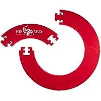 Hieronymus Darts Dart Surround Dart Ring hochwertige Stabile Umrandung – Wandschutz für Dartboards – in Schwarz Rot