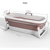Bañera plegable de 1,38 m sin logo FDCW, grande, para adultos, niños, para masajes, para adultos, uso doble, para bebé, hogar, spa, hogar, sauna, 2 tamaños, L2.