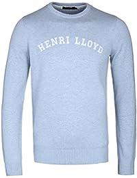 Henri Lloyd gell Regular Powder Blue Crew Neck Knitted Sweater