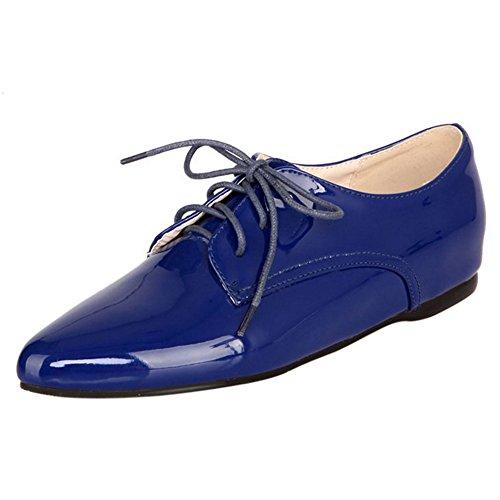 RAZAMAZA Scarpe Donna Stringate Basse Moda Blue
