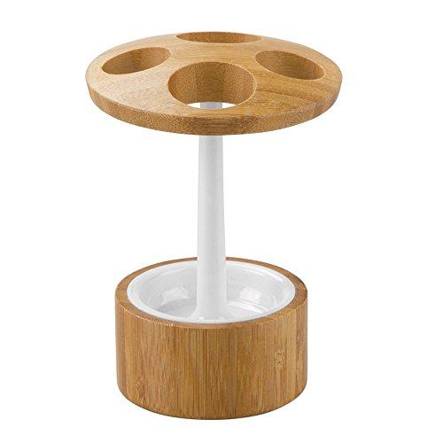 iDesign Formbu Zahnbürstenhalter, bambus/kunststoff weiß/natur -