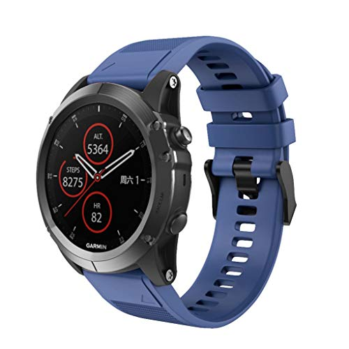 Huhu833 für Garmin Fenix 5X / 5X Plus Armband, 26mm Silikon Passgenau UhrBand Uhrenarmband Schnellspanner Ersatzarmband Strap für Garmin Fenix 5X / 5X Plus Uhr 6.70