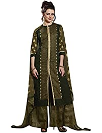 Rose Petals Fully Stitched Printed Cotton Plazo Sets For Women, Plazo For Women With Printed Chiffon Dupatta (... - B07DYSCKDW
