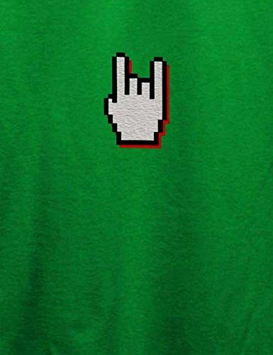 Rock N Roll Pommesgabel T-Shirt Grün