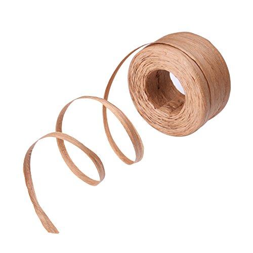 papel rafia cinta para manualidades, 1/ 4 pulgadas por 100 yardas  Características: La cinta de raffia ayuda a agregar algunos sentidos delicados y especiales a su regalo. Adecuado para hacer proyectos de artesanía, envolver los regalos, colgar etiqu...
