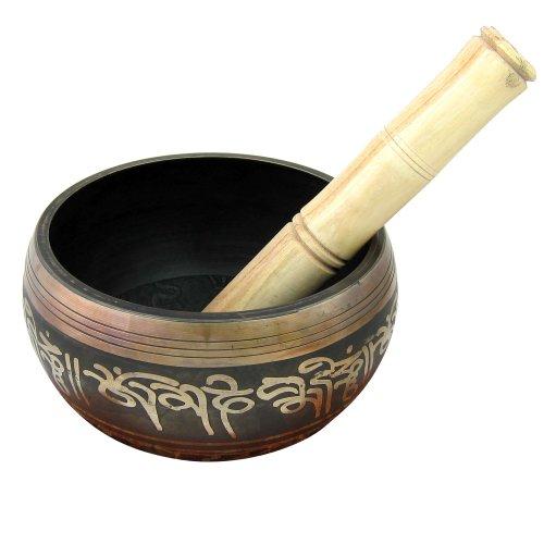 Bols chantants tibétains pour la méditation Dia: 13.97 cm, Hauteur: 8,89 cm