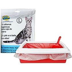 BPS® Bolsas para Bandeja Arena Bolsa Caca Excrementos para Gatos Mascotas, Bolsa de Recambio Inferior Tamaño L Total 45 Bolsas (L: 45 Bolsas) BPS-5468*3