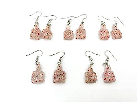 Skyllc® Schildkrötenförmige Ohrringe Perlenkappen und Ohrringe Haken Glasohrringe