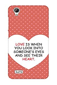 TEMPER See There Heart 3D Back Cover for Vivo Y31L