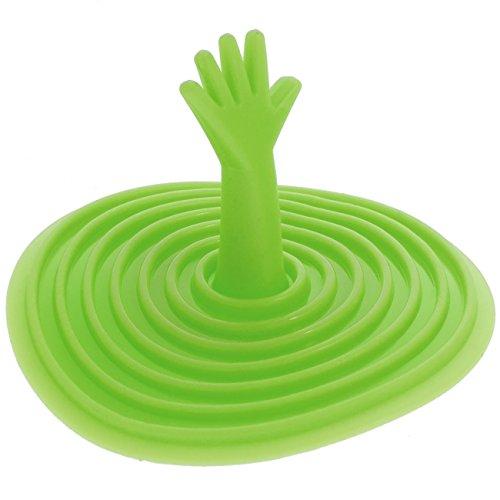 Smartfox Waschbeckenstöpsel Waschbeckenstopfen Abflussstopfen Badewannenstöpsel Ablaufstöpsel aus Silikon für Küche Bad in grün
