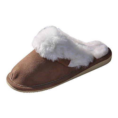 der-Fellmann Lammfell Hausschue Pantoffeln Malibu braun/weiß Schuhgröße EUR 39