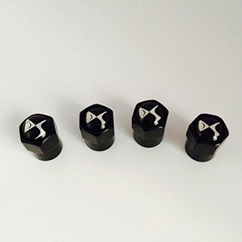 Citroen DS schwarz Staub Ventilkappen