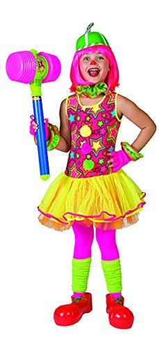 (Faschingsfete Clown Kostüm mit Sternmuster für Kinder, 116-122, 6-7 Jahre, Mehrfarbig)